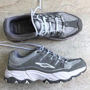 Avia Gray Memory Foam Sneakers